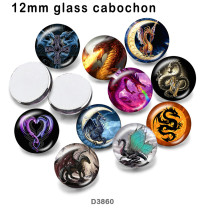 10pcs/lot  Birthstone   glass  picture printing products of various sizes  Fridge magnet cabochon