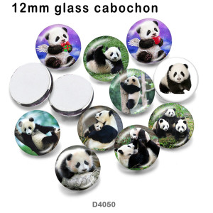 10pcs/lot  panda  glass  picture printing products of various sizes  Fridge magnet cabochon