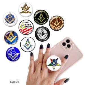 Symbol Fair Держатель для мобильного телефона Окрашенные телефонные розетки с черным или белым принтом на основании
