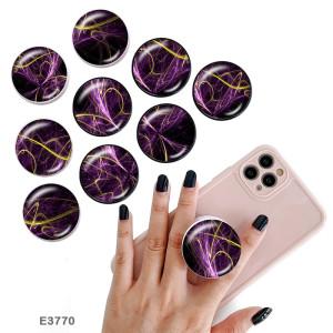 Позолоченное звездное небо Держатель мобильного телефона Окрашенные телефонные розетки с черным или белым принтом на основании