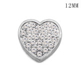 Love chef hat 12MM snap silver plated  interchangable snaps jewelry