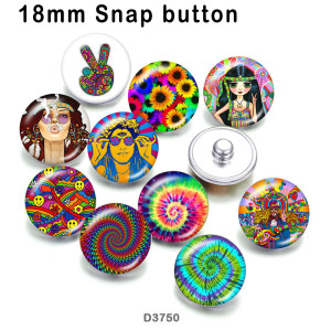 10pcs/lot  color   Flower  glass  picture printing products of various sizes  Fridge magnet cabochon