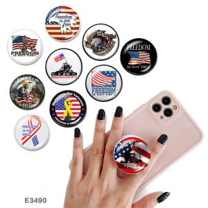 Государственный флаг веры Держатель для мобильного телефона Окрашенные телефонные розетки с черным или белым принтом на основании