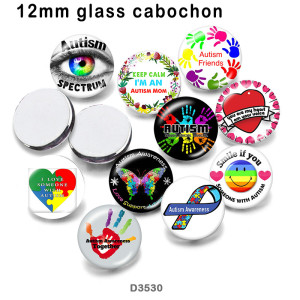 10pcs/lot  Butterfly  love  glass  picture printing products of various sizes  Fridge magnet cabochon