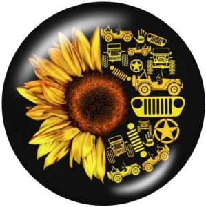 Jeep Plant flowers Держатель для мобильного телефона Телефонные розетки с росписью и основанием с черным или белым принтом