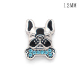 Mermaid Rugby Cat Dog12MM snap silver plated  interchangable snaps jewelry