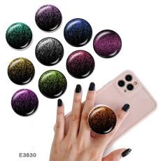 Ciel étoilé doré Le support de téléphone portable Prises de téléphone peintes avec une base à motif imprimé noir ou blanc
