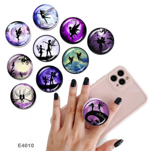 Elves The mobile phone holder Painted phone sockets with a black or white print pattern base