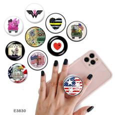 Faith Le support de téléphone portable Prises de téléphone peintes avec une base à motif imprimé noir ou blanc