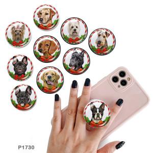 Perro El soporte para teléfono móvil Tomas de teléfono pintadas con una base estampada en blanco o negro