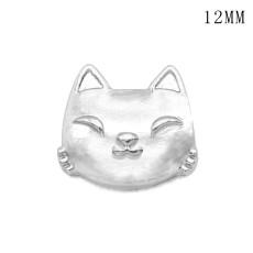 猫テニス 12MM スナップ シルバー メッキ交換可能なスナップ ジュエリー