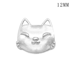 Cat tennis12MM snap silver plated  interchangable snaps jewelry