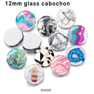 Productos de impresión de imágenes de vidrio con patrón de 10 unids / lote de varios tamaños imán de nevera cabujón