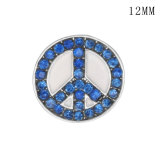 Elephant anti war peace sign12MM snap silver plated  interchangable snaps jewelry