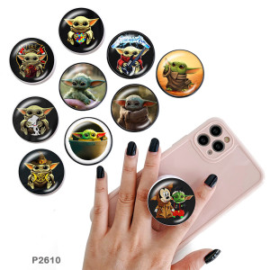 Master Yoda El soporte para teléfono móvil Tomas de teléfono pintadas con una base estampada en blanco o negro