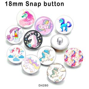 10 unids / lote productos de impresión de imágenes de vidrio de unicornio de varios tamaños imán de nevera cabujón