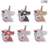 Unicorn 12MM snap silver plated  interchangable snaps jewelry
