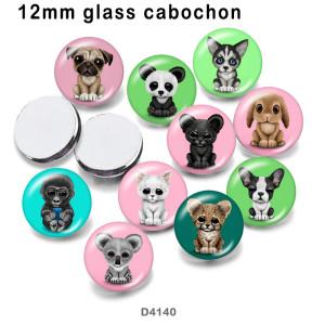 10 pcs/lot Chien Chat lapin verre image produits d'impression de différentes tailles Réfrigérateur aimant cabochon