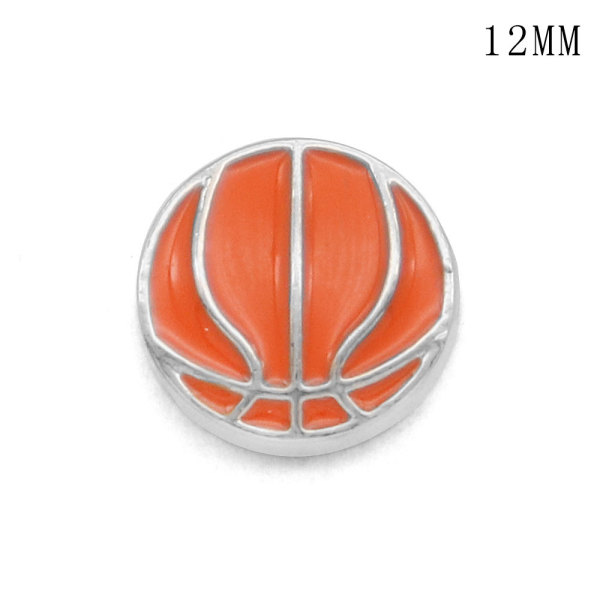 Basketball12MM snap silver plated  interchangable snaps jewelry