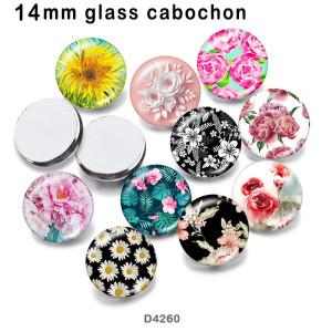10 unids / lote productos de impresión de imágenes de vidrio de flores de varios tamaños imán de nevera cabujón