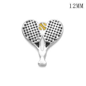 Chat tennis12MM snap bijoux snaps interchangeables plaqués argent