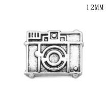 Fleurs appareil photo bouddha12MM snap plaqué argent snaps bijoux interchangeables