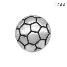 Football12MM スナップ シルバー メッキ交換可能なスナップ ジュエリー