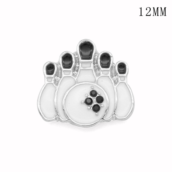 Bowling 12MM snap silver plated  interchangable snaps jewelry