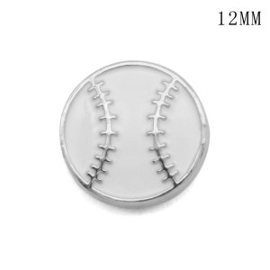 Baseball Musical instrument 12MM snap silver plated  interchangable snaps jewelry