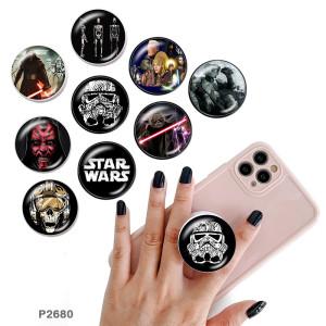 Star wars El soporte para teléfono móvil Tomas de teléfono pintadas con una base de patrón de impresión en blanco o negro