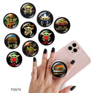 Мастер Йода Держатель для мобильного телефона Окрашенные телефонные розетки с черным или белым принтом на основании