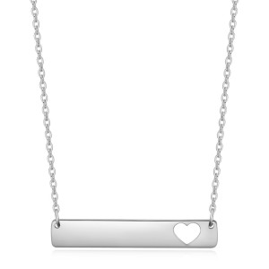 46CM chain Fashion Trendy Stainless Steel Square Love Women Necklace