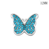 Planet  butterfly 12MM snap silver plated  interchangable snaps jewelry