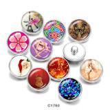 Стеклянные кнопки с принтом бабочки, стрекозы, оленя, 20 мм