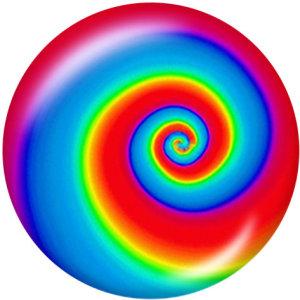 Стеклянные кнопки с цветным принтом черепа 20 мм