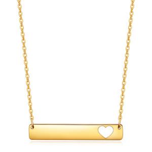 46 см цепочка модное модное квадратное ожерелье из нержавеющей стали с любовью