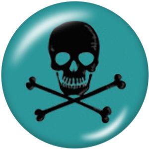 Стеклянные кнопки с принтом черепа 20 мм