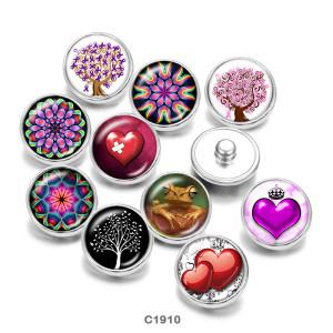 20 мм любовь мандала лягушка принт стеклянные кнопки кнопки