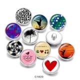 Стеклянные кнопки с принтом танцевальной любви 20 мм