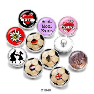 Стеклянные кнопки с принтом для волейбола 20 мм Best Mom Ever