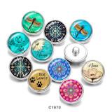 20MM  Butterfly  Nana  Dog  Lover   Print   glass  snaps buttons