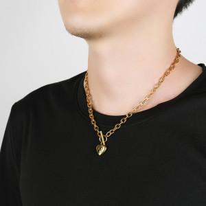 46 см цепочка из нержавеющей стали ожерелье 18-каратное золото из нержавеющей стали любовное письмо ожерелье сердце кулон