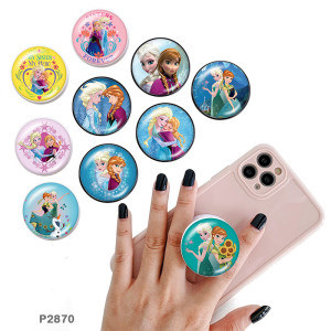 Frozen The mobile phone holder Painted phone sockets with a black or white print pattern base