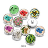 20MM Mimi Flower Print Glasdruckknöpfe