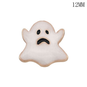 12MM Halloween Kürbis Geister Design Metall versilbert Snap Charms Multicolor
