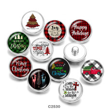 20MM Weihnachtsdruck Glas Druckknöpfe Buttonsgirl