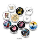 20MM  Blessed  love Dreamcatcher  Print   glass  snaps buttons