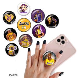 Basketball Kobe Der Handyhalter Lackierte Telefonsteckdosen mit schwarzer oder weißer Druckmusterbasis