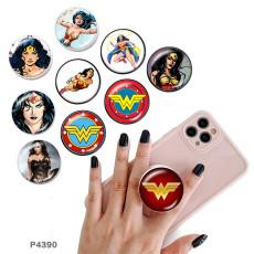 Marvel Anime Heroes Le support de téléphone portable Prises de téléphone peintes avec une base à motif imprimé noir ou blanc