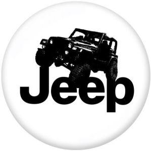 Jeep Le support de téléphone portable Prises de téléphone peintes avec une base à motif imprimé noir ou blanc